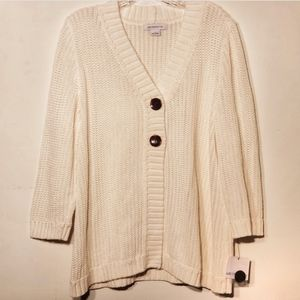 Liz Claiborne NWT 2 Button Oversized Cardigan